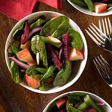 Spinach Salad, Apples, Beets