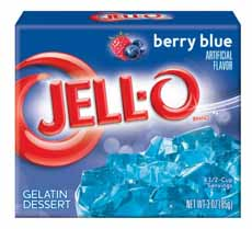 Berry Blue Jello Package