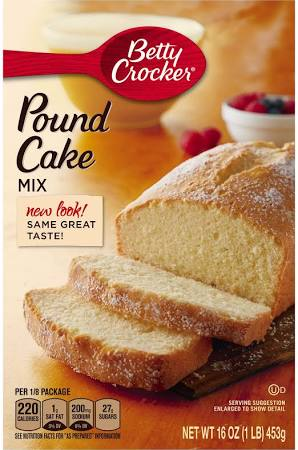 Betty Crocker Pound Cake Mix