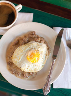 Fried Egg, Biscuits & Gravy