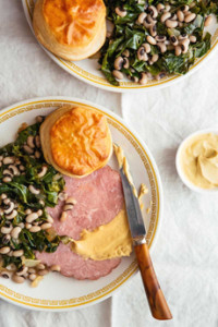 Ham, Collards, Black-Eyed Peas