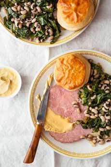 Blackeyed Peas, Collards, Ham
