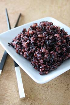 Black - Purple Rice