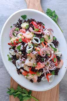 Seafood Salad With Black Rice