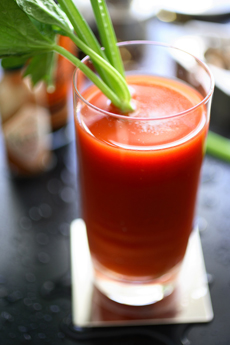 BLOODY MARY COCKTAIL IN GLASS