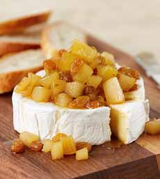 Brie With Compote Topping