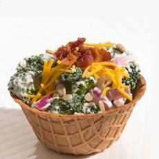 Waffle Cup Salad