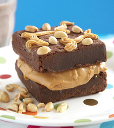 Brownie Sandwich With Peanut Butter Filling