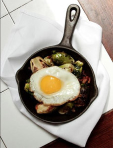 Fried Egg On Sauteed Brussels Sprouts
