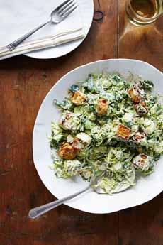 Brussels Sprouts Caesar Salad Recipe