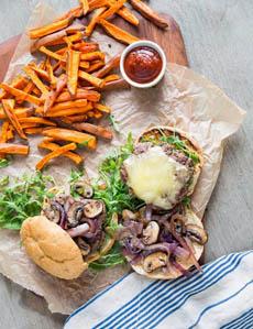 Burger & Sweet Potato Fries