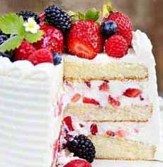 Fresh Strawberry Cake Filling