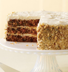 Carrot Cake With Chopped Pecans