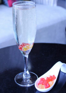 Champagne With Gummy Worms