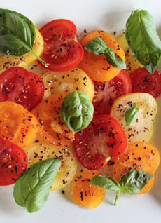 Cherry Tomato Salad With Hibiscus Salt