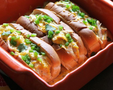 Hot Dog Bun Enchiladas
