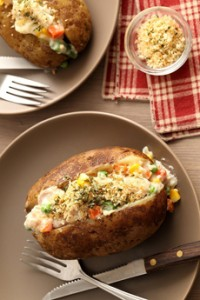 Chicken Pot Pie Baked Potato
