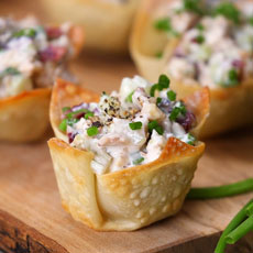 Chicken Salad In Wonton Cups