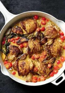 Skillet Chicken With Cherry Tomatoes