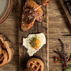 Chicken & Waffles & A Fried Egg