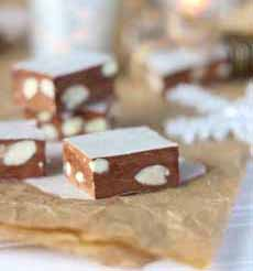 Chocolate Almond Nougat