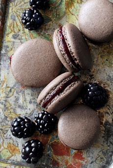 chocolate-blackberry-macarons-driscolls-230