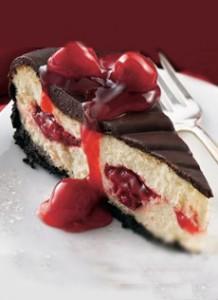 Cherry Cheesecake Chocolate Glaze
