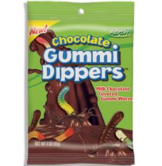 Chocolate Covered Gummi Worms Baron