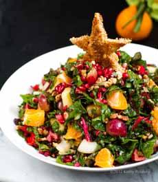 Star Crouton On Salad