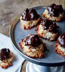Coconut Macaroons Chocolate Dipped
