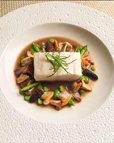Poached Fish In Mushroom Broth
