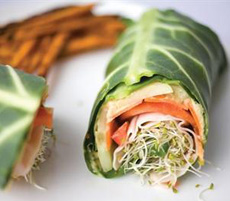 Hummus Collard Wrap