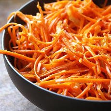 Shredded Cooked Carrots