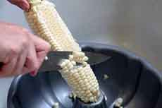 Removing Corn Kernels From The Cob