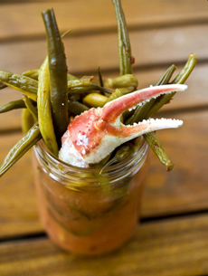 Bloody Mary Crab Claw