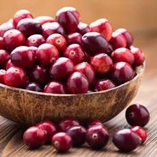 Fresh Cranberries In Bowl