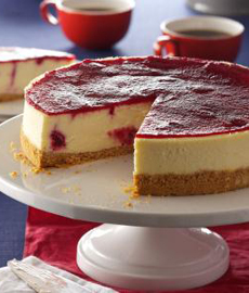 Cheesecake With Cranberry Gelee
