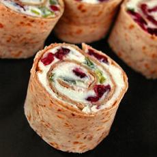 Cranberry Pinwheel Sandwiches