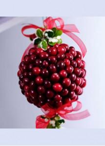 Cranberry Mistletoe Ball