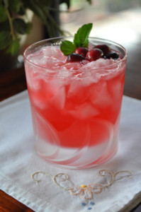 Cranberry Cocktail Garnish