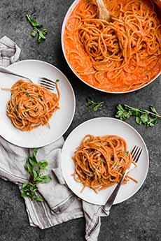 Spaghetti Creamy Tomato Sauce