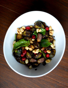 Brussels Sprouts With Duck Bacon