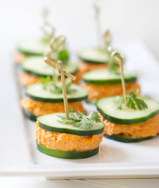 Chicken Salad Cucumber Stacks