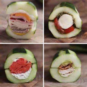 Cucumber Submarine Sandwiches