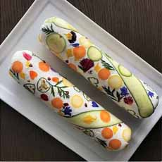 Decorated Goat Cheese Log