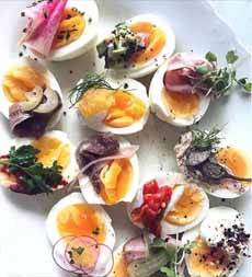 Decorated Hard Boiled Eggs