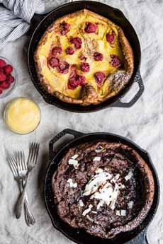 Raspberry & Chocolate Dutch Babies