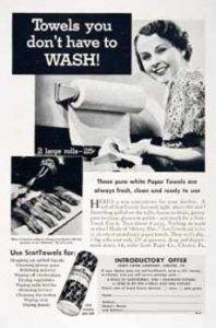 Early Paper Towels Ad