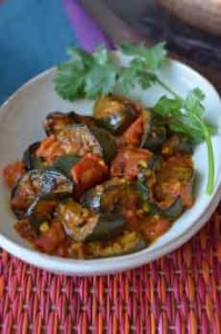Indian Eggplant & Tomatoes Recipe