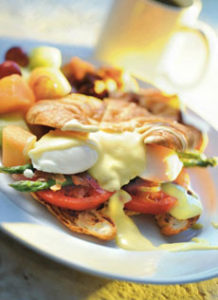 Eggs Benedict On Croissant